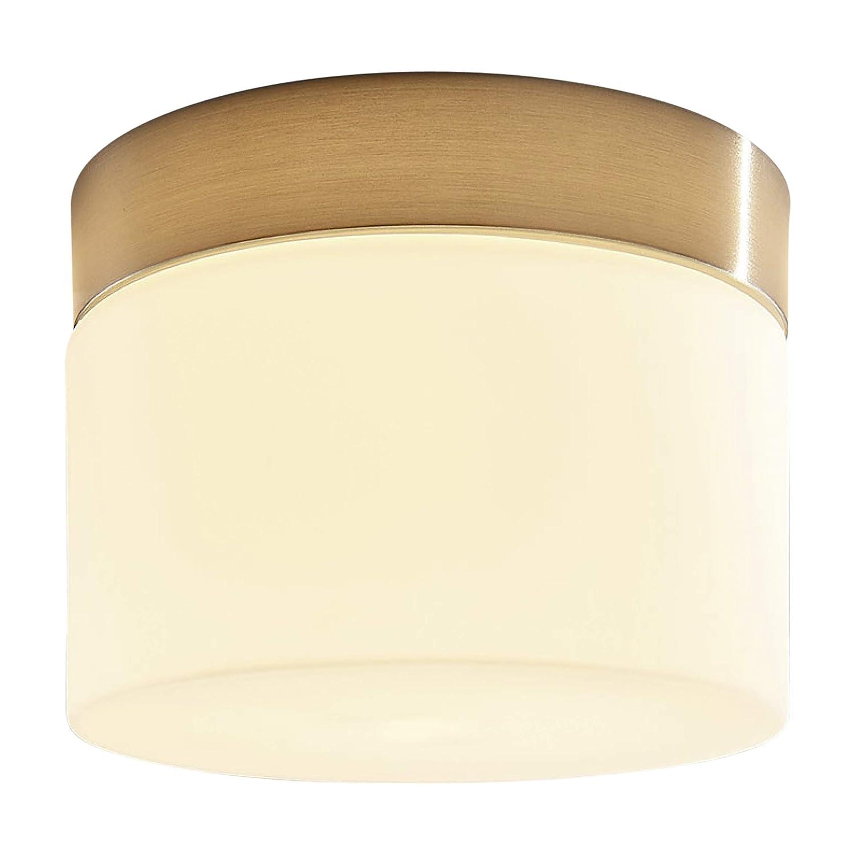 Lampenwelt Deckenleuchte'Miguel' dimmbar (spritzwassergeschützt) (Modern) in Weiß aus Metall u.a. für Badezimmer (1 flammig, G9, A++) | Bad-Deckenleuchte, Deckenlampe, Lampe, Badezimmerleuchte