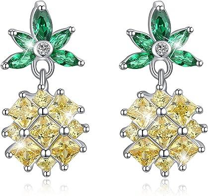 Fashion Bijoux argent sterling 925 Lotus Zircone Perle Boucles d/'oreilles femmes cadeau