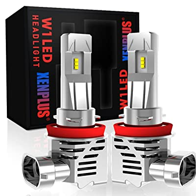 XENPLUS 2PCS H11 / H8 / H9 Led Headlight Bulbs, 55W 13000Lm Extremely Bright 100% Original ZES Chips Conversion Kit, 6500K Cool White, 2 Years Warranty: Automotive