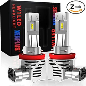 CAR ROVER 55W 10000Lumens Plug-N-Play Extremely Bright 6500K H8 H9 ZES Chips Conversion Kit H11 LED Headlight Bulb
