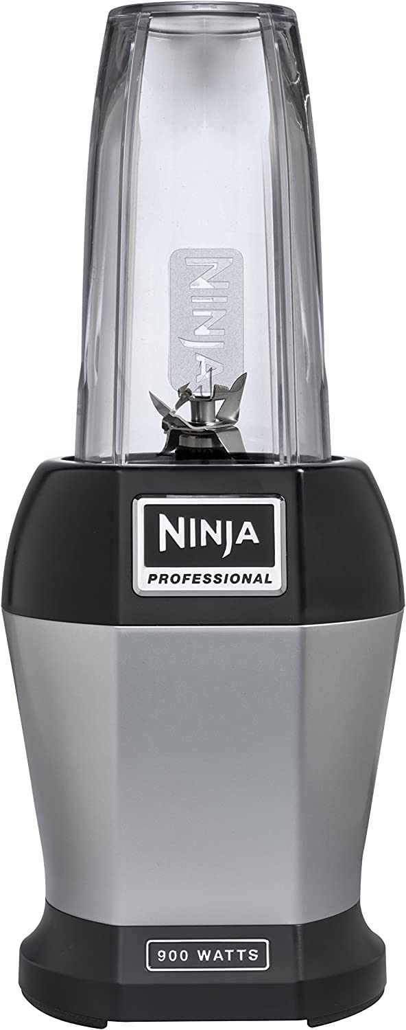 Nutri Ninja Pro Personal Blender with 900 Watt Base and Vitamin and Nutrient Extraction for Shakes and Smoothies with 18 and 24-Ounce Cups BL456 Renewed