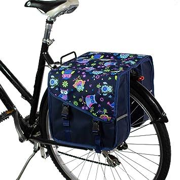 BikyBag Clásica S - Doble Alforjas Bolsa para Bicicleta (Búhos ...