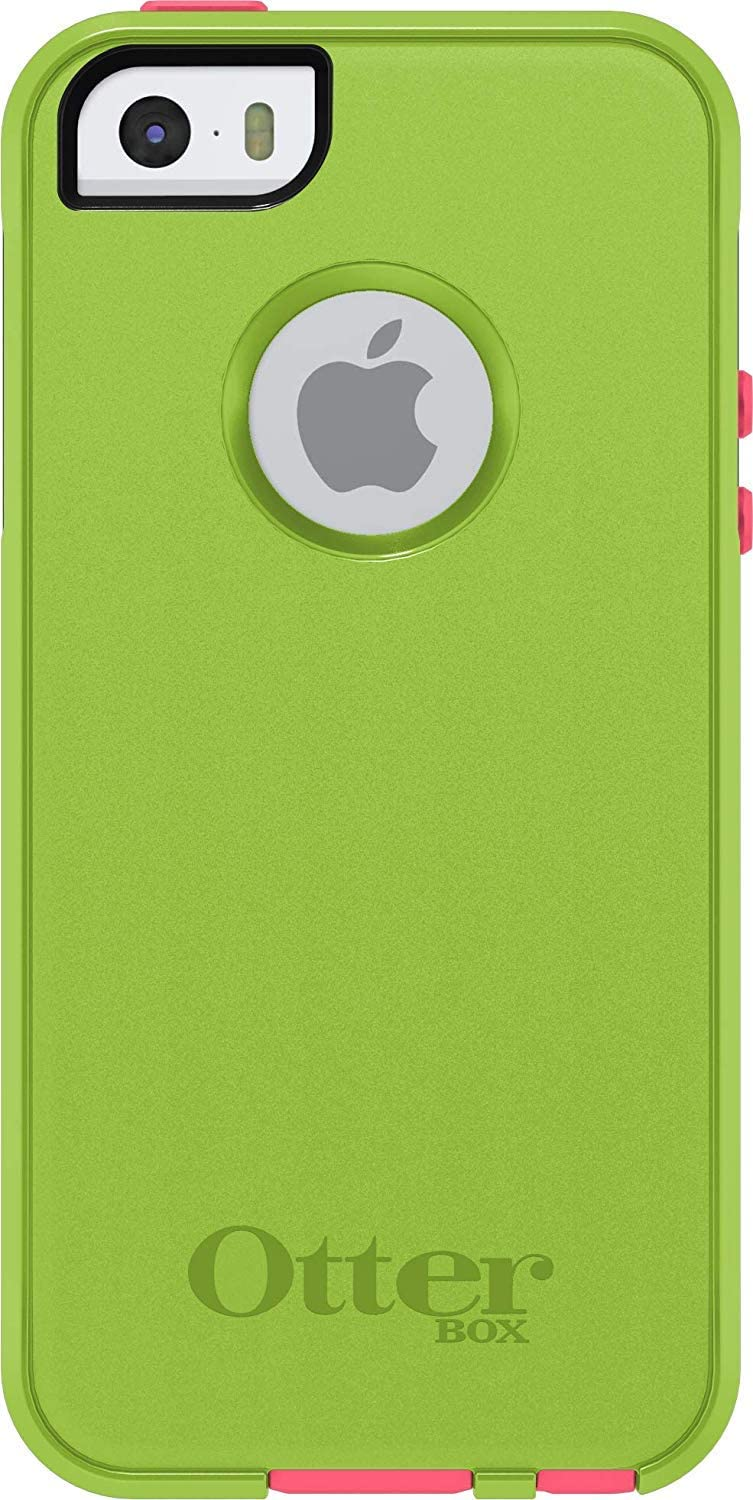 OtterBox Commuter Series for iPhone SE, iPhone 5S, iPhone 5 (1Th GEN Only) Bulk Packaging (Glow Green/Blaze Pink)