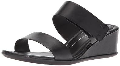 108b604d79d299 ECCO Women s Women s Shape 35 Wedge 2-Strap Slide Sandal Black M EU (4