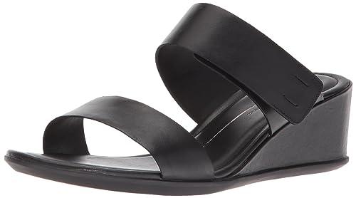 7d36e3451c5 ECCO Women s s Shape 35 Wedge 2-Strap Slide Sandal  Amazon.co.uk ...