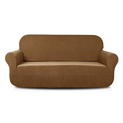 Marvelous Aujoy Stretch Loveseat Cover Water Repellent Couch Covers Dog Cat Pet Proof Sofa Love Seat Slipcovers Protectors Loveseat Brown Inzonedesignstudio Interior Chair Design Inzonedesignstudiocom