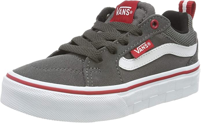 Vans Filmore Sneakers Mädchen Jungen Kinder Grau/Rot