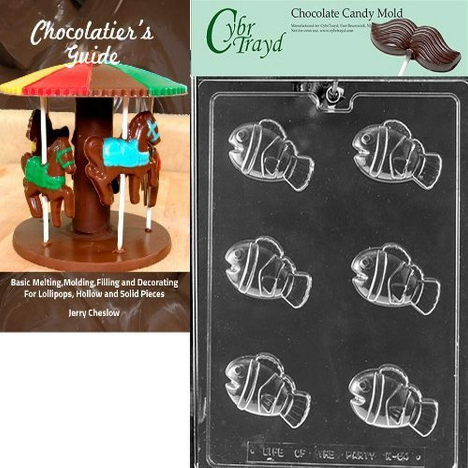 Cybrtrayd bk-n064 Striped payaso peces Chocolate Candy Mold con ...
