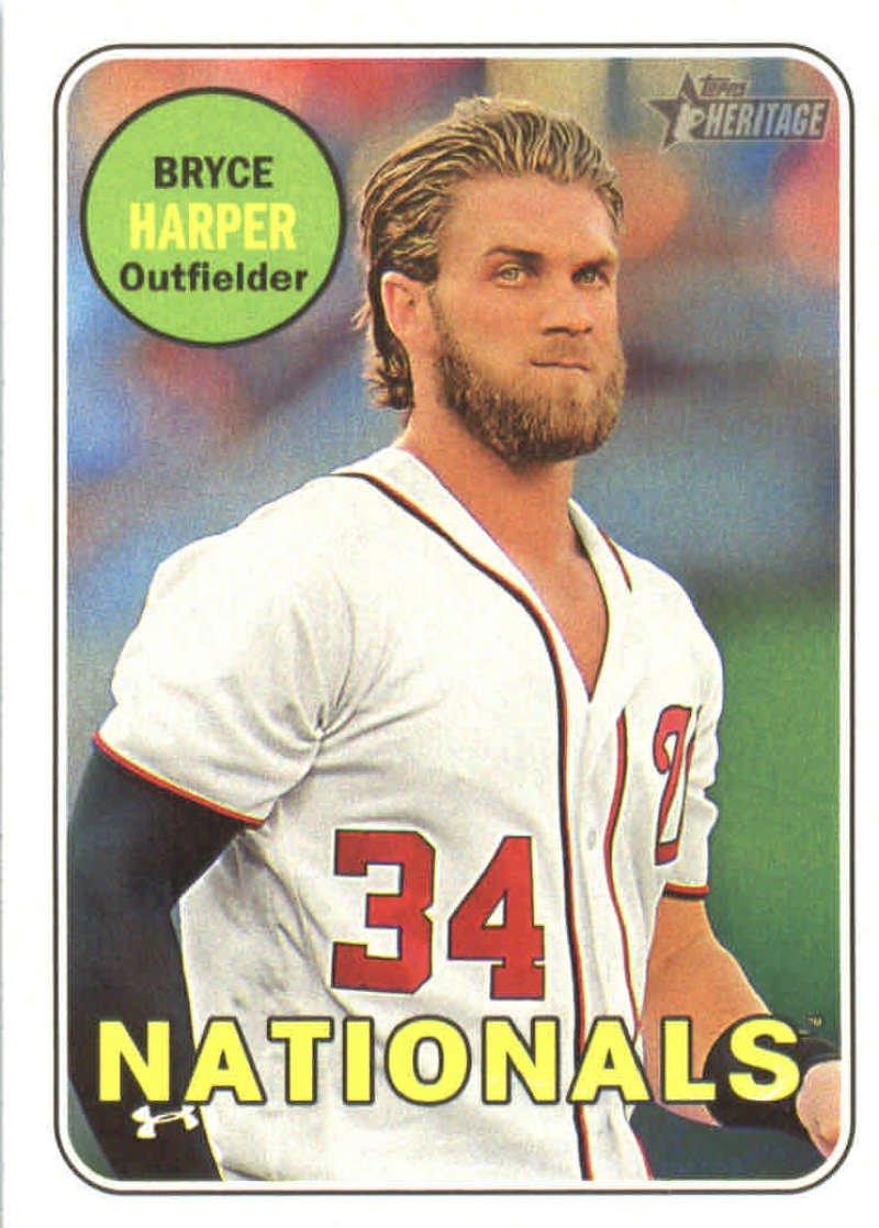 2018 Topps Heritage #22 Bryce Harper Washington Nationals Baseball Card