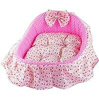 Pet Betten Cute Dot Rosa Kennel Kleine/Mittlere Hund Pet Bed Shaker Design Pet Prinzessin Bett Waschbar Pet Verdicken Warm Bed