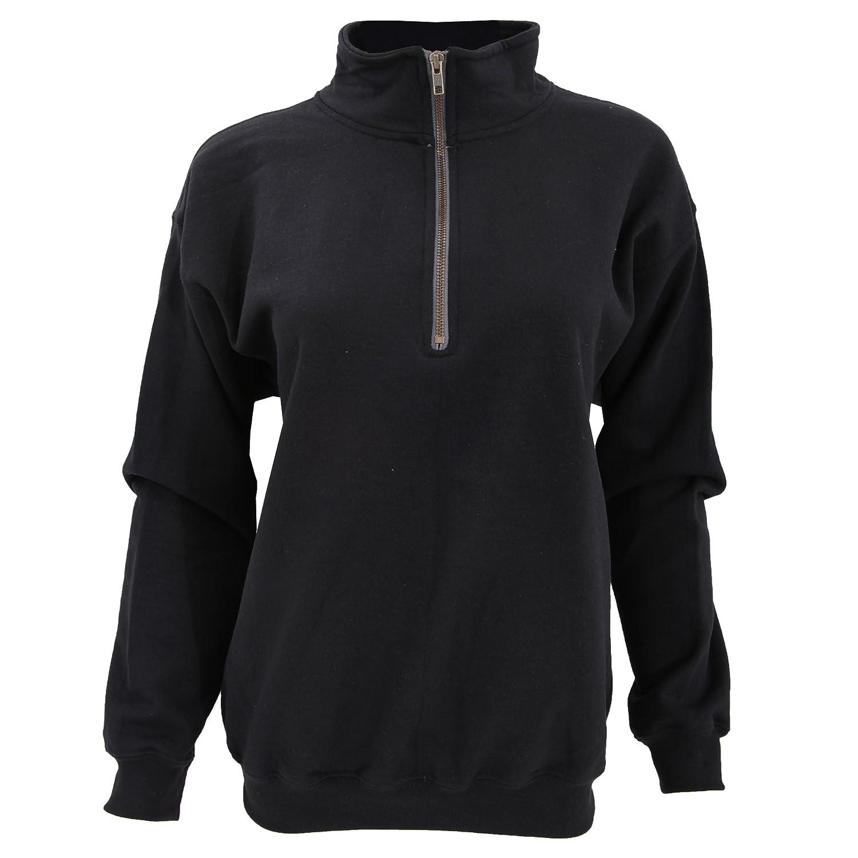 (ギルダン) Gildan メンズ ヴィンテージ 1/4ジップネック 長袖スウェットシャツ トップス カットソー 男性用 B00I642XEI S|ブラック ブラック S