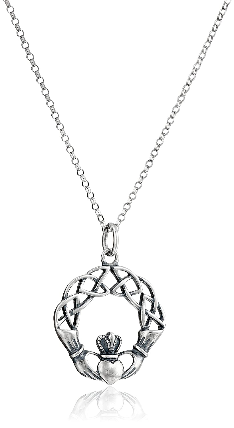crafts pendant triangle necklace products celtic pen claddagh