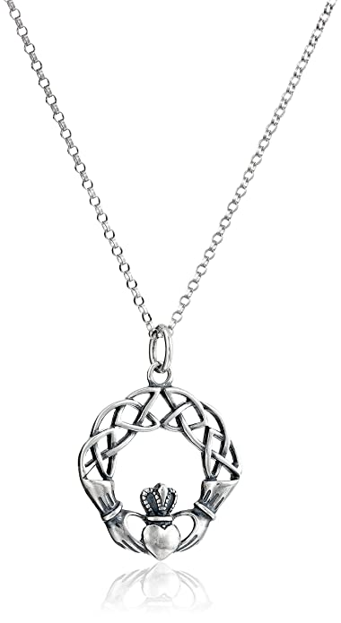 irish knot silver trinity pendant plated celtic
