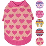 Blueberry Pet 7 Patterns Designer Dog Sweater with Fair Isle, Lopi or Heart Patterns