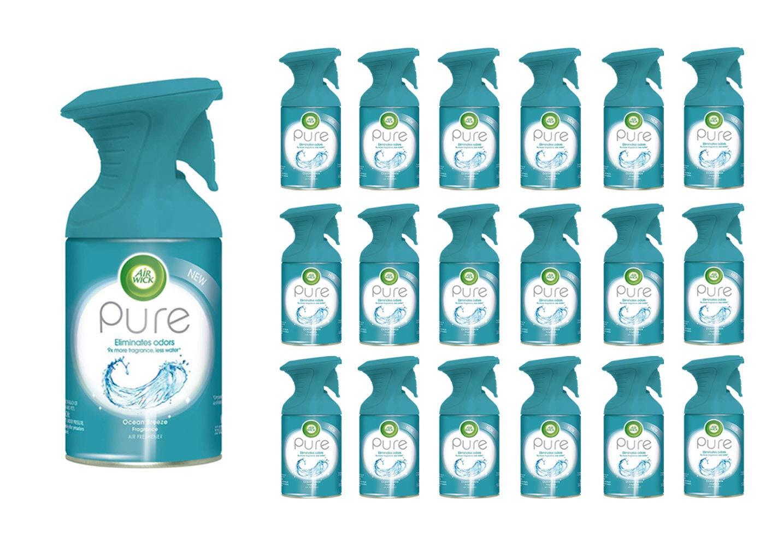Air Wick Pure Air Freshener Spray Premium Fragrance Ocean Breeze 5.5 oz (114 Spray Bottles)