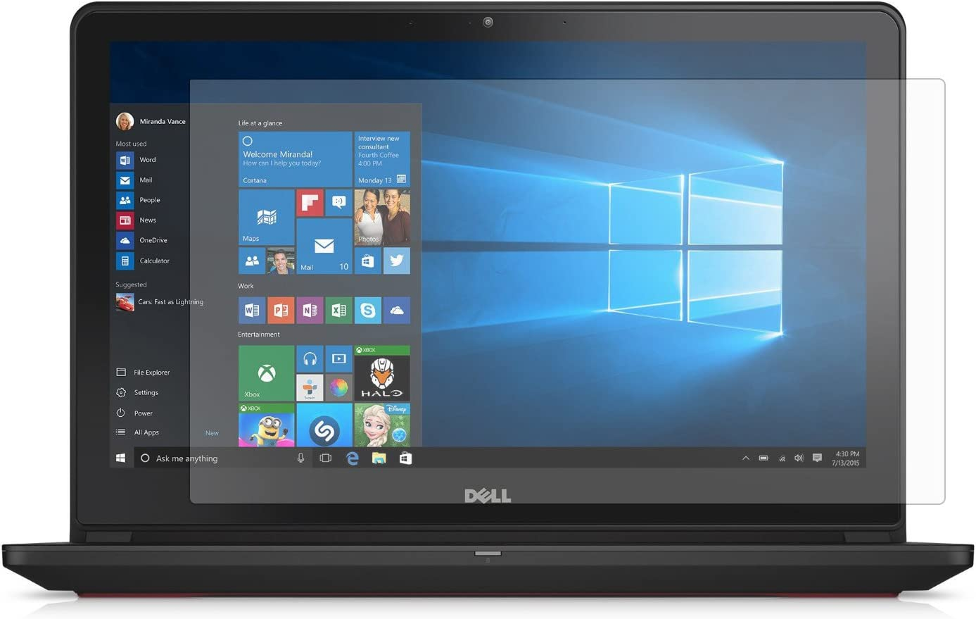 PcProfessional Screen Protector (Set of 2) for Dell Inspiron 15 7559 15.6