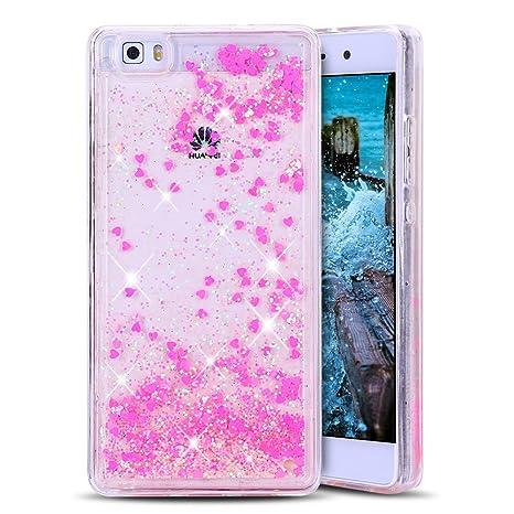 Anfire Funda Huawei P8 Lite Carcasa Glitter Silicona Líquido ...