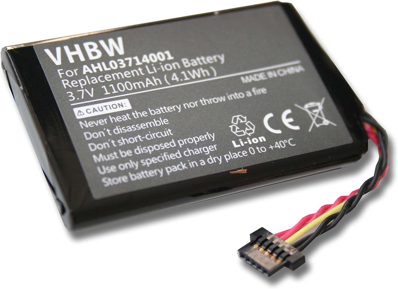 HM9440232488 BATTERY 1100mAh for GPS TomTom Go 750 Go 740TM Go740 Go 750 Live AHL03711012 4CP0.002.06. Go 740 Live Go 740TM replacing VF1A