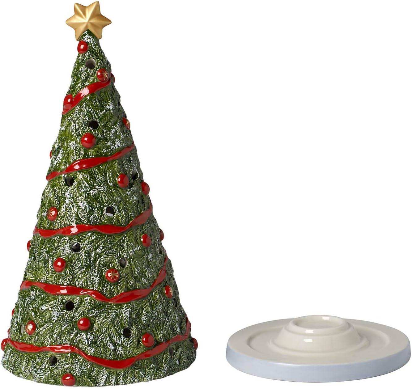 13.1 x 12.3 x 25.6 cm Vert Villeroy /& Boch P/ère No/ël//Cadeaux Porcelaine