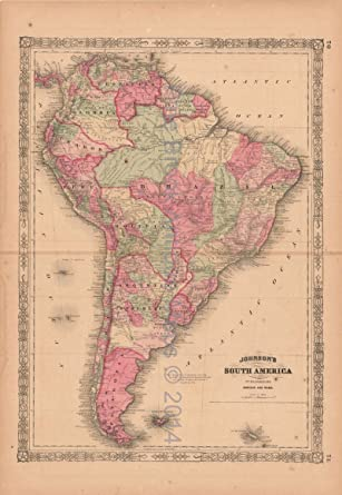 Map Of America History.South America Antique Map Unique South American Decor History Gift