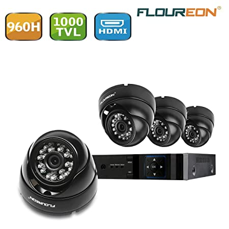 2X FLOUREON 1080P 3000TVL NTSC Outdoor CCTV DVR Security Camera Night Vision US