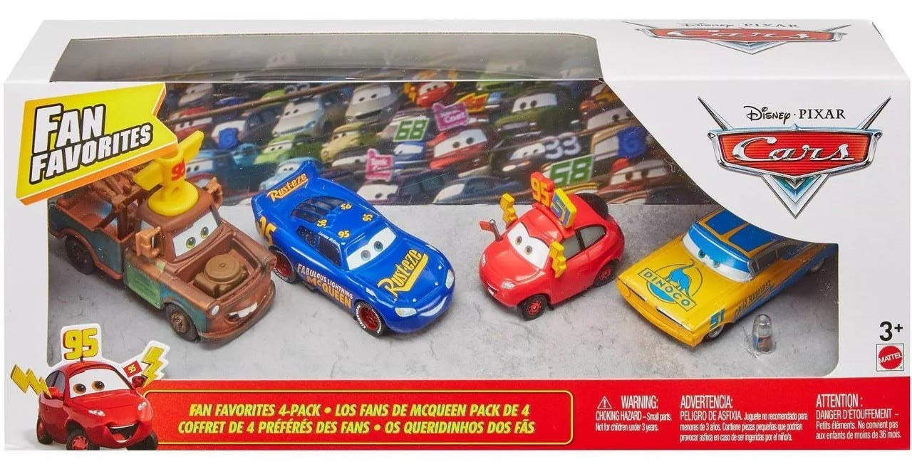Action Fan Favorites Cars Team 95 Mater Team 51 Ramone Team 95 51 Maddy Fabulous Lightning McQueen 4 Pack 1 55 Scale Diecast