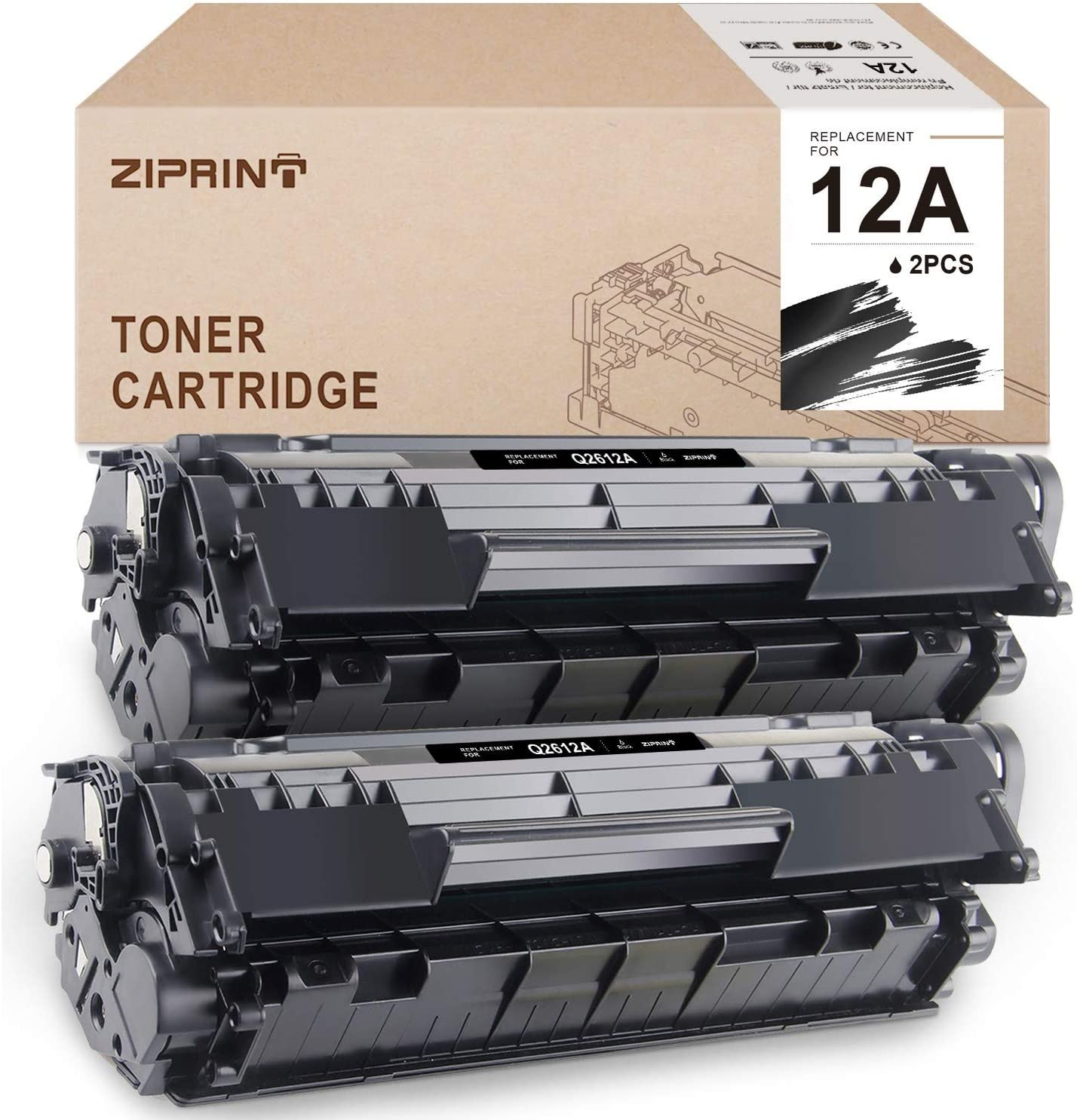 V4INK 1 Pack Compatible Q2612A CRG-104 Toner Cartridge For 12A Q2612A For HP Laserjet Printer 1010 1012 1015 1018 1020 1022 1022n 1022nw 3015 M1005 M1319F