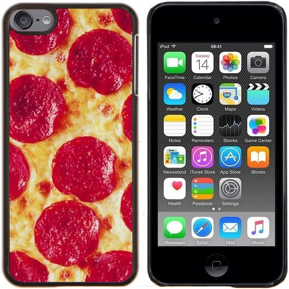 - pizza pepperoni Italian new york food/ Hard Snap On Cell Phone Case Cover - Cao - For Apple iPod Touch 6 6th Generation