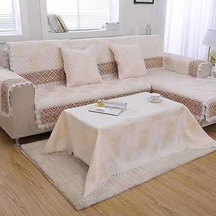 Divano copre sezionale,Divano moderno semplice mat Quattro tessuto ...