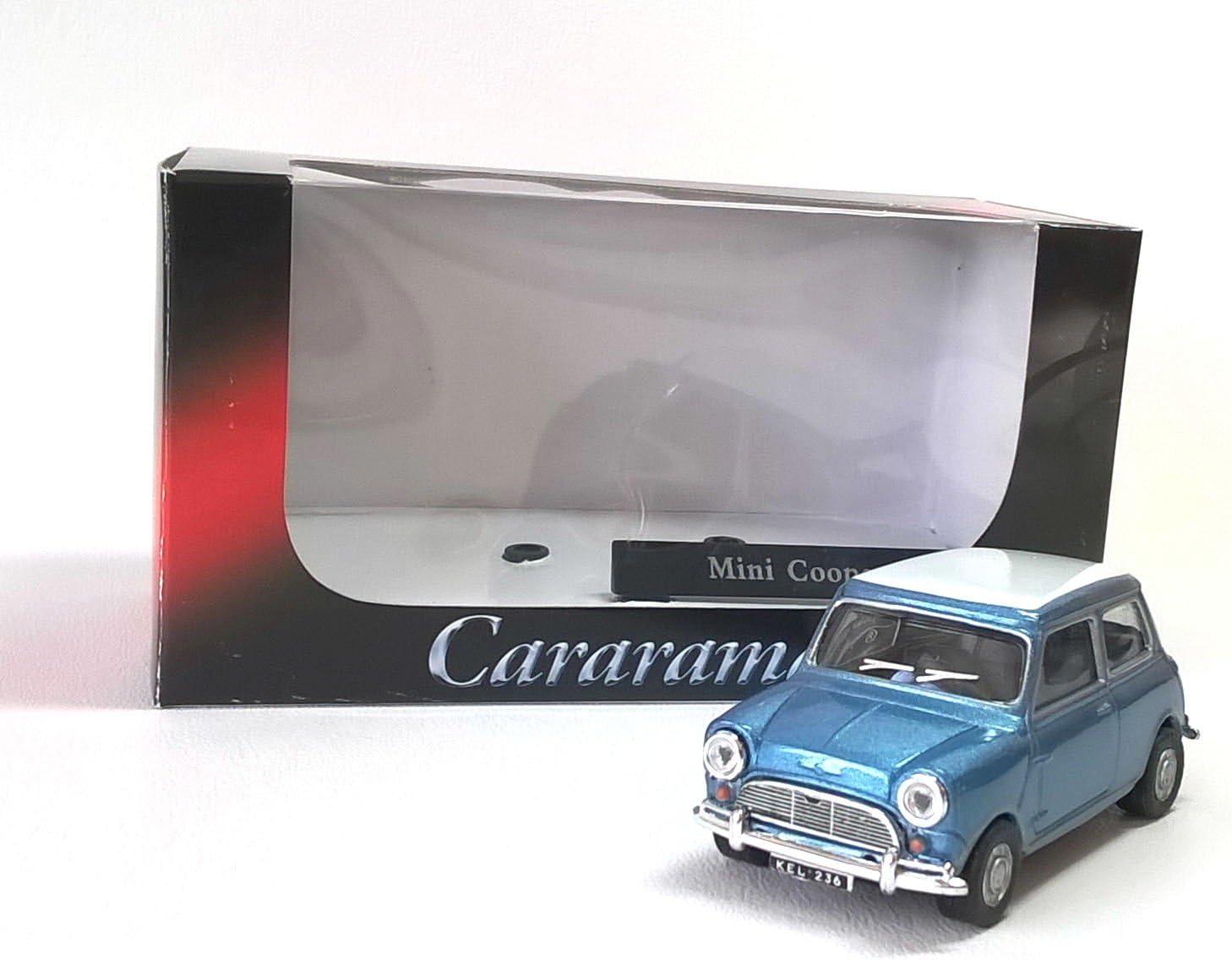 Scale 1:43 Blue Mini Cooper Cararama