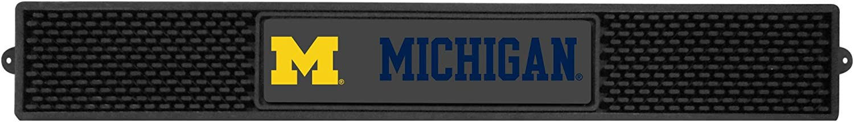 FANMATS 14019 NCAA University of Michigan Wolverines Vinyl Drink Mat,Black,3.25