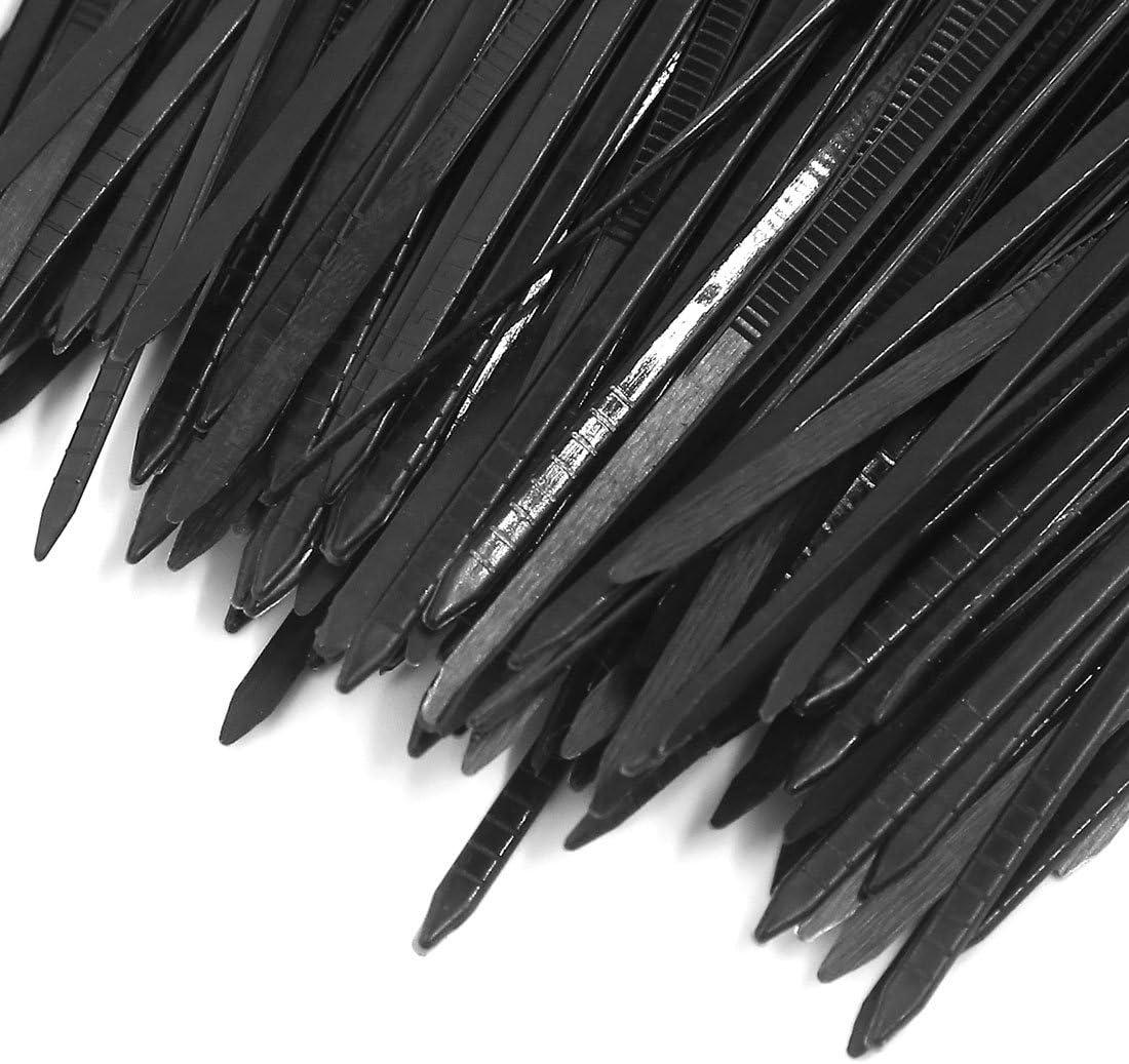 200 pieces 3 x 200mm Black Nylon Plastic Self Lock Network Cable Tie Zip Fasten