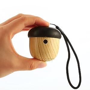 One Two Portable Mini Wireless Bluetooth Nut Speaker, Cute nut nut styling,, 12 month warranty