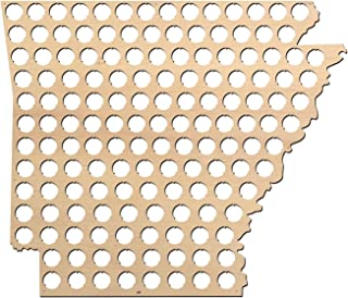 product image for Arkansas Beer Cap Map - 19.6x23 inches - 147 caps - Beer Cap Holder Arkansas - Birch Plywood