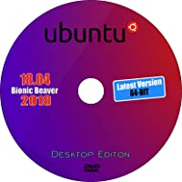 Ubuntu 18.04 LTS Bionic Beaver, 64 Bit, Latest Most Popular Desktop Edition
