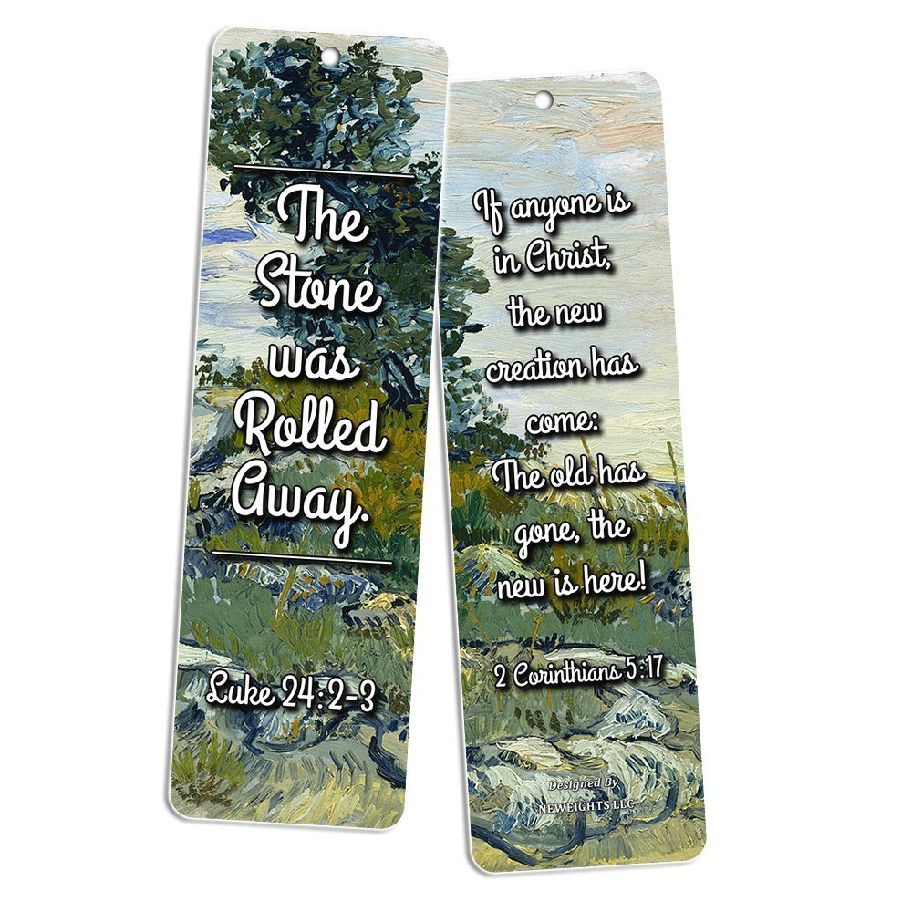 Christian Bookmarks Cards - God is Love (60 Pack)- Bible Scripture Prayer Cards - War Room Decor - Encouragement Gifts - VBS Bible Study Sunday School Baptism Church Camp Cell Group Stocking Stuffers