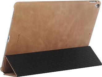 StilGut Housse iPad Pro 12.9 (2017) Couverture en Cuir Fin avec Fonction Veille et avec Fonction Support. Coque de Protection pour iPad Pro 12,9 Pouces (2017), Cognac Vintage