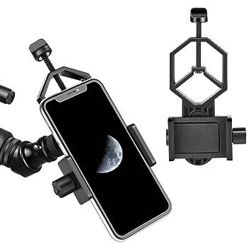 Adaptador Smartphone M/óvil Universal Adaptador para Telescopio A Universal Tel/éfono M/óvil Soporte de Adaptador Telescopio Terrestre Prism/áticos Microscopio