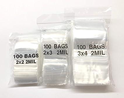 200-2 x 2 8 Ball Baggies Design Plastic Ziplock Baggies