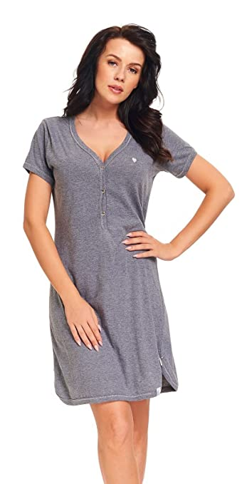 dn-nightwear Damen Umstandsnachthemd/Stillnachthemd Alina