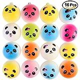 "Kuuqa 16 Pcs 1.57"" Mini Panda Bread Bun Squishies Slow Rising Kawaii Squishy Charms Cellphone Straps Party Favors (Random Color)"