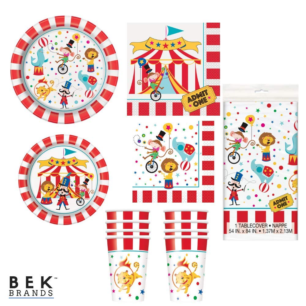 Circus Party Bundles for 8 Guests