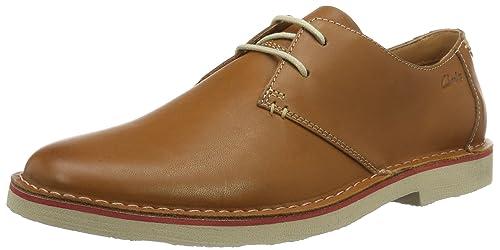 Clarks Franson Plain, Derby Hombre, Marrón (Tan Leather), 44.5 EU