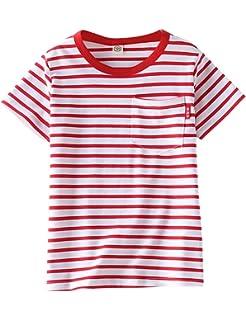 33275ce0 ASHERANGEL Unisex Kids Classic Striped T-Shirt Girls Boys Crewneck Jersey  Tee