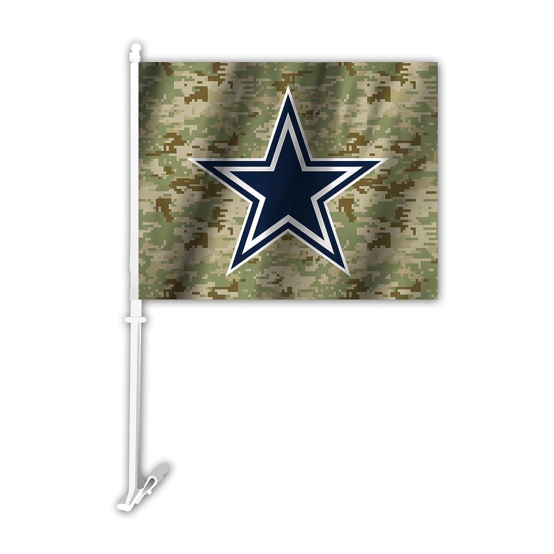 NFL Dallas Cowboys Camo Car Flag, Green, One Size Fremont Die 991