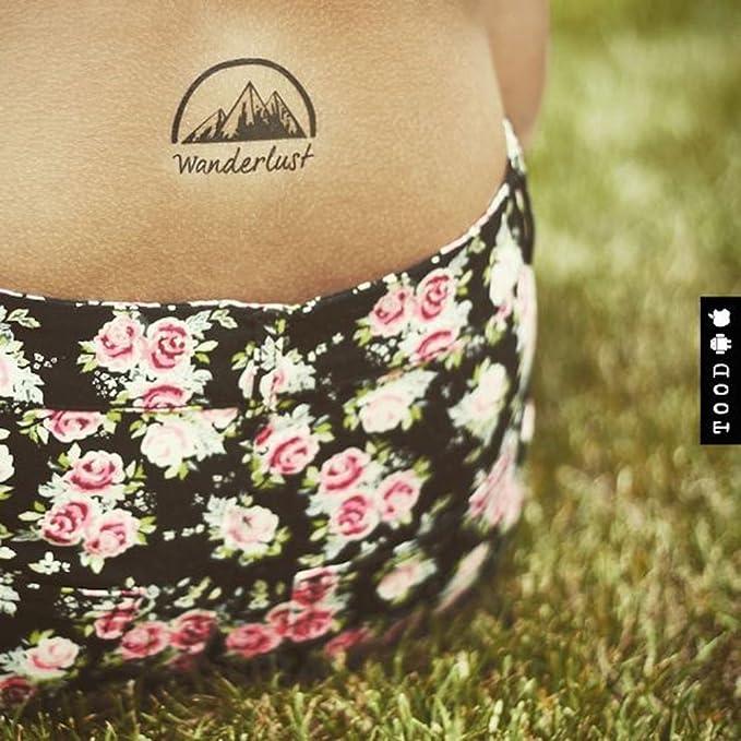 Tatuaje Temporal de Wanderlust Mountain (2 Piezas) - www.ohmytat ...