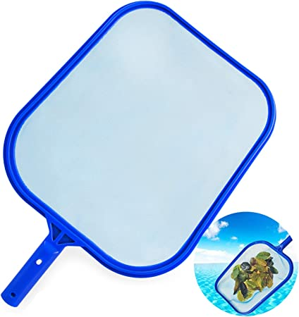 SNOWINSPRING 1 Pcs Leaf Skimmer Rake Net Fold Fine Mesh Pool Skimmer Net Remove All Debris Aquarium Cleaning Tools