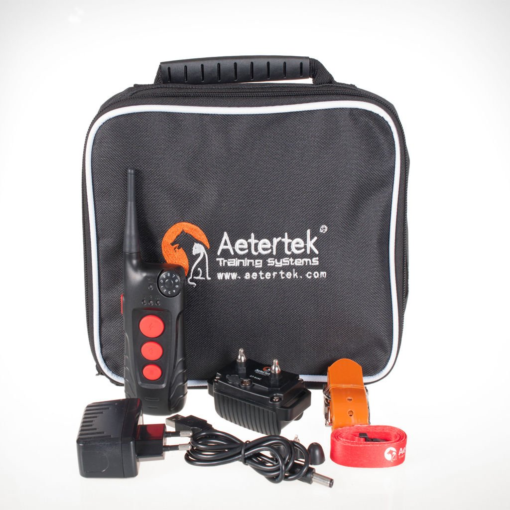 Aetertek Dog Training Collar Rechargeable and waterproof 600yd Remote Dog Shock Collar with Beep, Vibra and Shock Electronic Collar with LCD display
