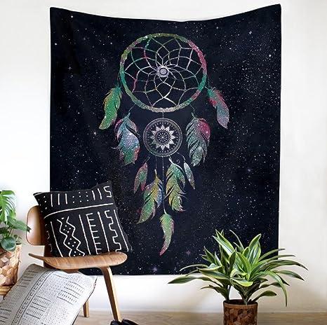 Dreamcatcher patrón tapiz multifunción colgante paño inicio decoración de la pared toalla de playa , 2