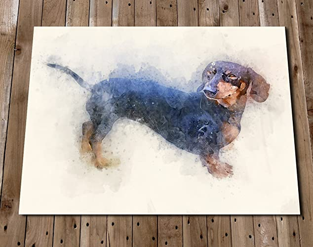 DACHSHUND Print Wall Art   Sauage Dog Dachshund Gift   Pet Portrait   Home  Decor